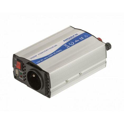 ANTARION Convertisseur 300W 12V/230V avec prise USB et Allume cigare