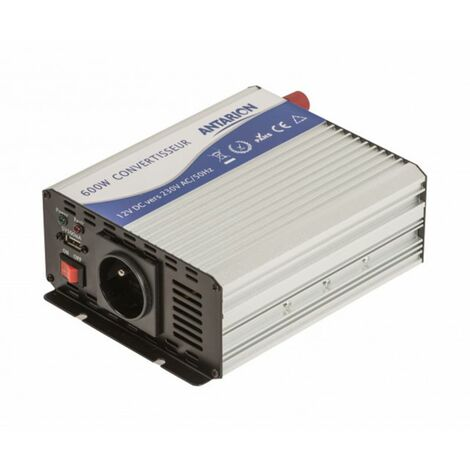 ANTARION Convertisseur de tension quasi sinus 12V / 230V 600W