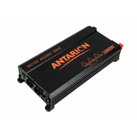 ANTARION Convertisseur Pure Sinus 3000W 12V/230V Camping Frigo Ordinateur