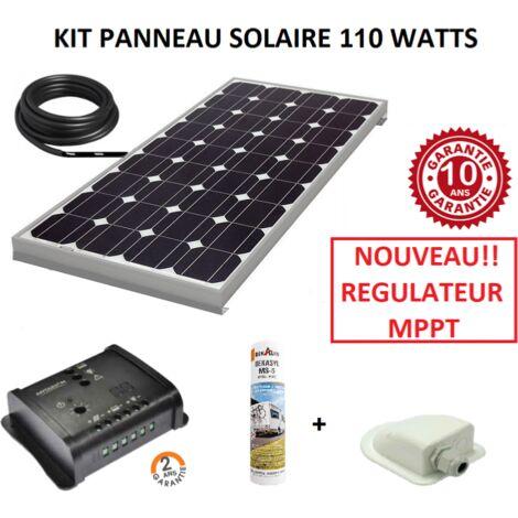 ANTARION - Kit panneau solaire 110w monocristallin MPPT pour camping car