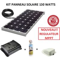 Antarion Kit panneau solaire 120w monocristallin MPPT pour camping car