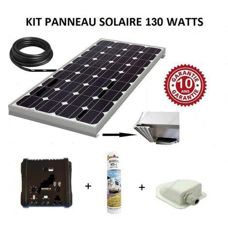 Antarion Kit panneau solaire 130w monocristallin pour camping car