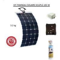 Antarion Kit panneau solaire souple 140w pour camping car monocristallin