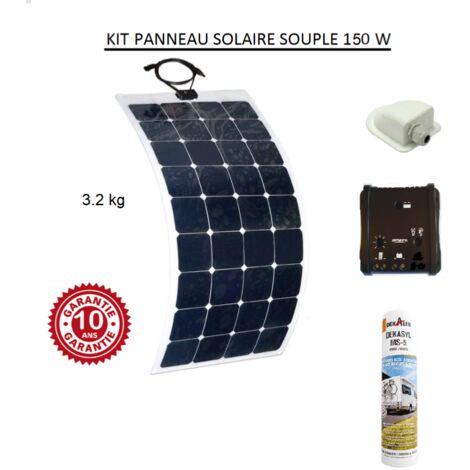 Antarion Kit panneau solaire souple 150w pour camping car monocristallin