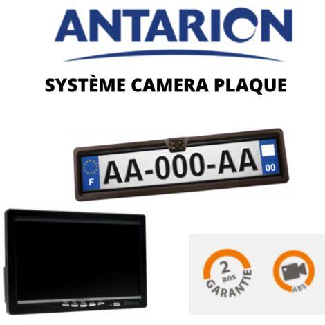 Antarion Pack caméra de recul sur plaque d'immatriculation Ecran 7'
