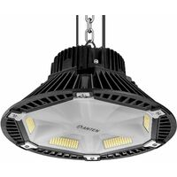 Anten 100W UFO LED Anti-Éblouissement Suspension Industrielle LED Étanche IP65 Projecteur LED 100W Éclairage Haute Baie Blanc Neutre 4000K (Connecteur de câble étanche Fourni)