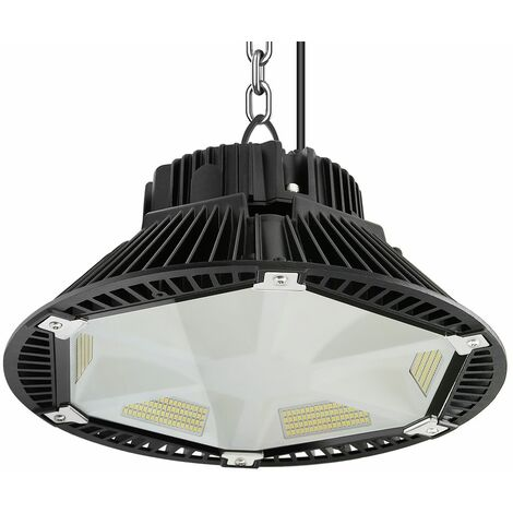 Anten 200W Projecteur LED Anti-Éblouissement Phare de Travail de Super Luminosité 26000LM Spot High-Bay Lampe LED Étanche IP65 Éclairage Intérieur et Extérieur Blanc Neutre 4000K (Connecteur de câble étanche Fourni)