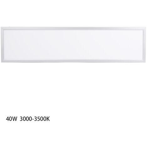 Anten 40W Panneau Dalle LED 30×120CM Dalle LED Lumineuse Plafond Blanc Chaud 3000-3500K