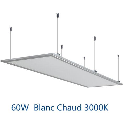 Anten 60W Panneau Dalle LED 30×120CM Dalle LED Lumineuse Plafond Blanc Chaud 3000-3500K