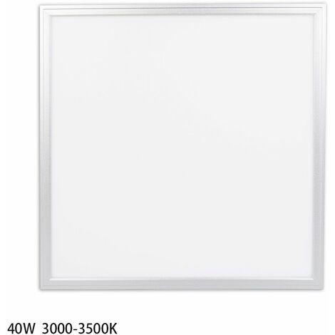 Anten Dalle LED 40W 60×60CM Dalle Lumineuse LED pour Plafond Blanc Chaud 3000-3500K