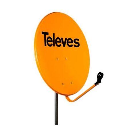 Antena parabólica de hierro off-set 650 naranja Televes 7535