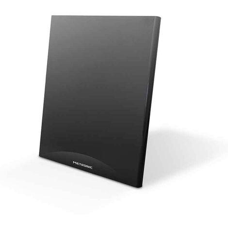 Antena TV TDT, TDT-T2 interior para canales TV TDT gratuitos, portátil, compatible 4G, extra plana, ganancia 55dB, 4K, para pared o sobremesa