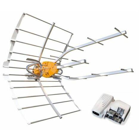 Antena TV UHF Televes 148902 ELLIPSE + alimentador (C21-60)