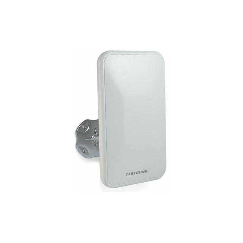 Bianco Metronic Discreta Orientabile Antenna TV da Esterno
