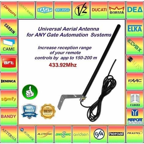 Antenne AERIAL universelle 433,92 MHz! Compatible avec SUPEERO, TELCOMA