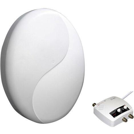 Antenne de toit TNT active Elap HD 50 Patch 240016 extérieure Amplification: 50 dB blanc 1 pc(s)
