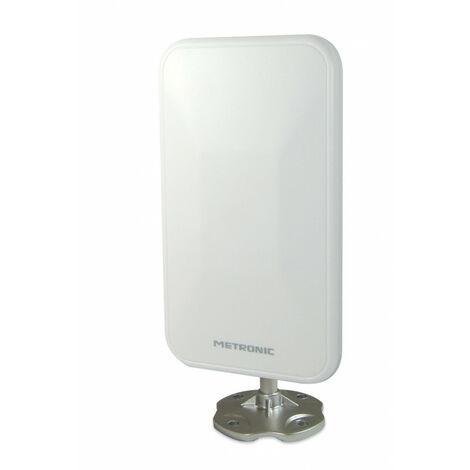 Antenne d'extérieur de proximité extra plate 26 dB - blanche