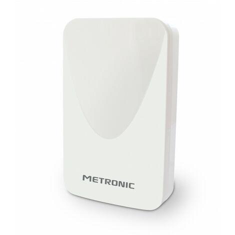 Antenne d'extérieur plate HD amplifiée 43 dB compatible 4K - blanche