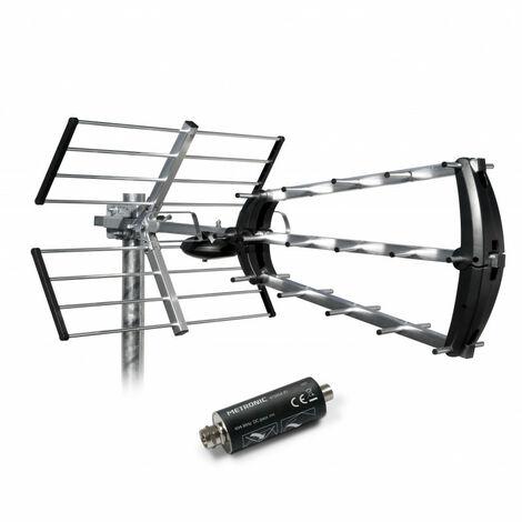 Antenne d'extérieur trinappe 26 dB + filtre 694 MHz