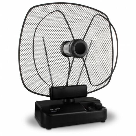 Antenne d'intérieur amplifiée FM/DAB+ 4K 59 dB - noire