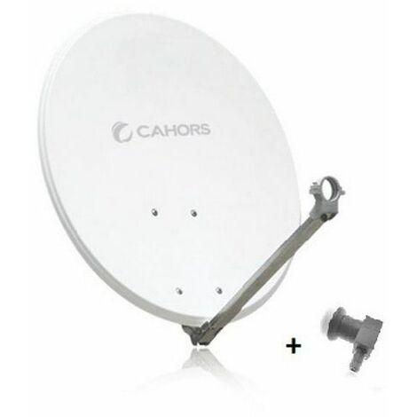 antenne parabolique acier 65cm + lnb - 141200r13 - cahors