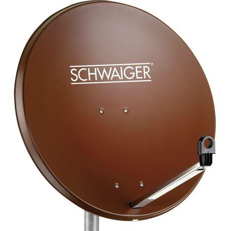 Antenne SAT 80 cm Schwaiger SPI996.2 Réflecteur: acier rouge brique