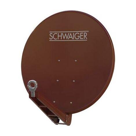 Antenne SAT 85 cm Schwaiger SPI085PR Réflecteur: aluminium rouge brique