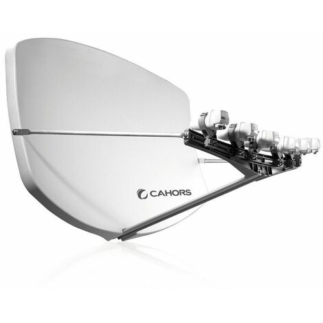 antenne satellite compacte + 4 supports lnb - 0140955 - cahors