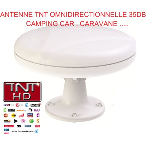 Antenne TNT 35DB Camping Car Omnidirectionnelle , Caravane ANTARION