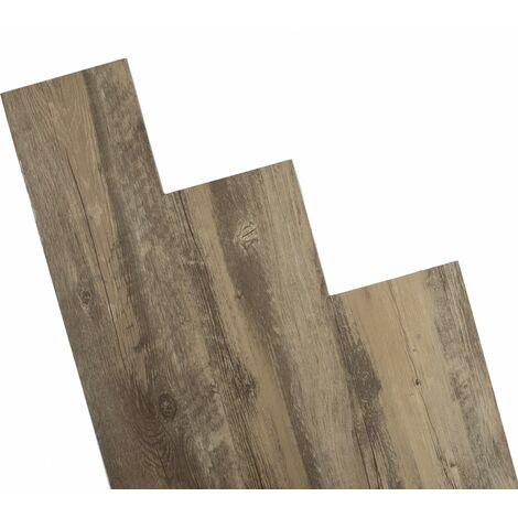 ANTEVIA – Lames de sol adhésives 4m2   PLUS DE 10 COLORIS   PVC Revêtement adhésif (Marron foncé - 4m2)