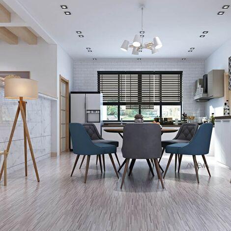 ANTEVIA – Lames de sol adhésives - Lot de 2,24 m2   PVC Revêtement adhésif (Effet Bois vieilli - Multi marron - 2,24m2)