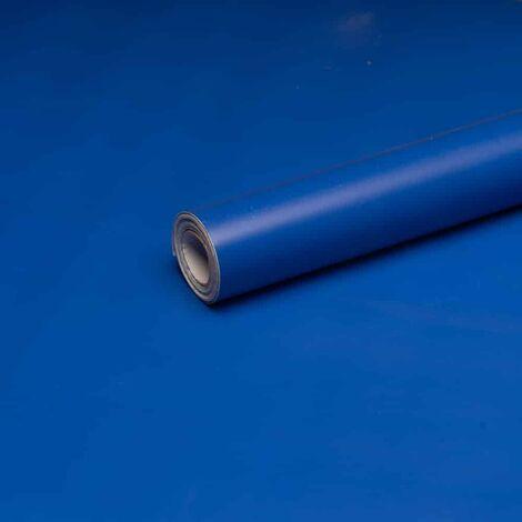ANTEVIA - Papier Adhésif pour meuble mur - 45cm x 500cm | Sticker Autocollant Film adhésif Naturel Papier peint (Bleu)