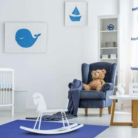 ANTEVIA – Tapis de sol en mousse sans BPA | Dalle clipsable protection jeux sport enfant bébé gym souple (Modèle croisillons bleu)