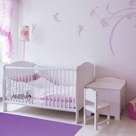 ANTEVIA – Tapis de sol en mousse sans BPA | Dalle clipsable protection jeux sport enfant bébé gym souple (Modèle croisillons violet)