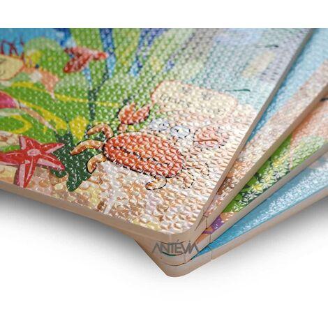 ANTEVIA – Tapis de sol en mousse sans BPA | Dalle clipsable protection jeux sport enfant bébé gym souple (Modèle océan)