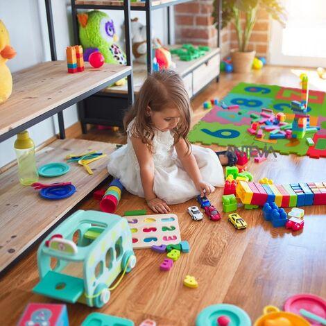 ANTEVIA – Tapis de sol en mousse sans BPA | Dalle clipsable protection jeux sport enfant bébé gym souple (Modèle small multichiffre)