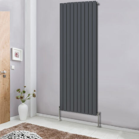 Anthracite 1800x680 Vertical Column Designer Radiator Modern Bathroom Heater Flat Double Panel Central Heating