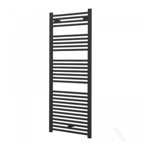 Anthracite Grey Straight 1100 x 600 Heated Towel Rail Warmer Radiator 22mm DRail