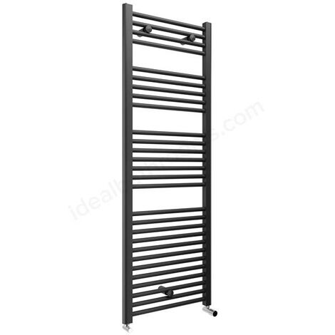 Anthracite Grey Straight 1420 x 600 Heated Towel Rail Warmer Radiator 22mm DRail