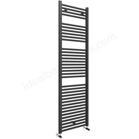 Anthracite Grey Straight 1703 x 600 Heated Towel Rail Warmer Radiator 22mm DRail
