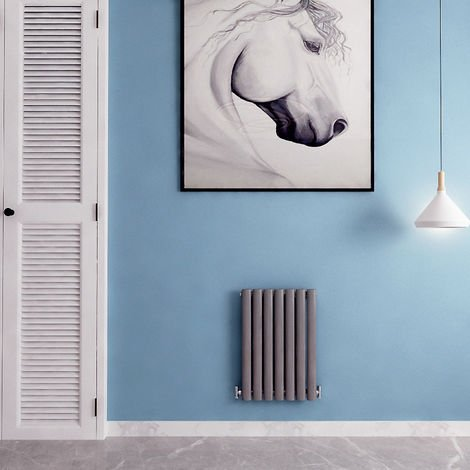 Anthracite Horizontal & Vertical Designer Radiator Oval Column Heating All Sizes Rads UK