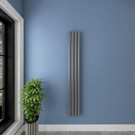 Anthracite Horizontal & Vertical Designer Radiator Oval Column Heating All Sizes Rads UK