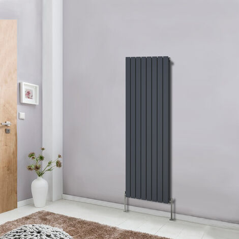 Anthracite Vertical Style Designer Radiator Upright Column 1600x544 Central Heating Flat Double Panel