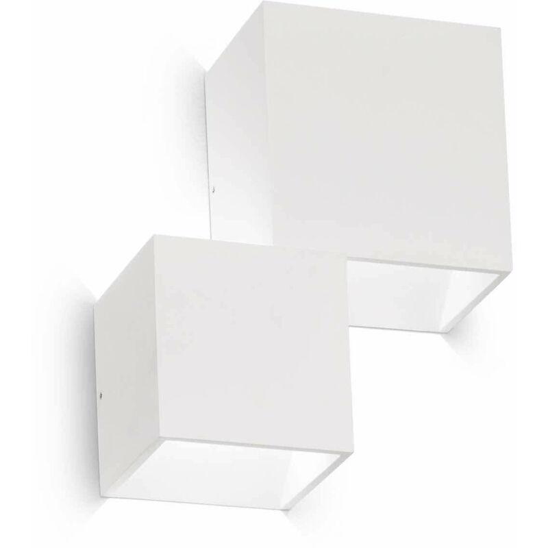 Weiße RUBIK 2-Licht Wandleuchte
