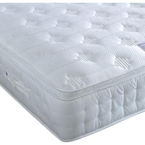 Anti Bed Bug 1500 Pocket Sprung Foam Pillow Top Mattress King Size