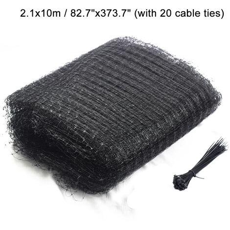 Anti Bird Crop Net PP Netting Garden Fruit Cage Crop Veg Pond Protection + Cable Ties 2.1x10M