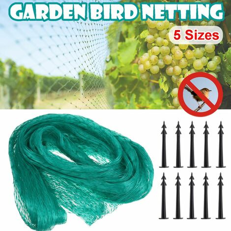 Anti Bird Net Crop Devices Gardening Plant Fence Fruit Vegetable Protection Net (5x10m)