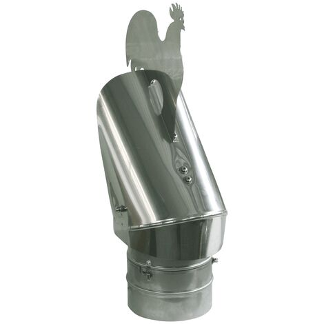 Anti courant descendant Chapeau de cheminée bas capot projet de conception 300 mm de diamètre de queue