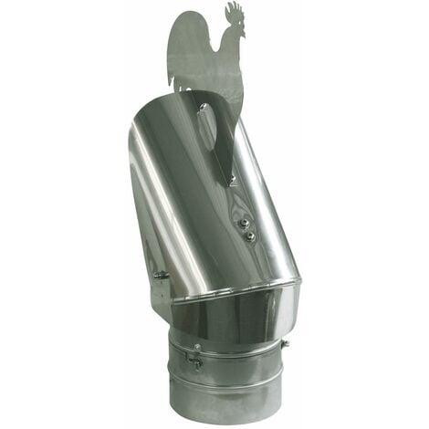 Anti courant descendant Chapeau de cheminée bas projet capot conception 180mm diamètre de queue
