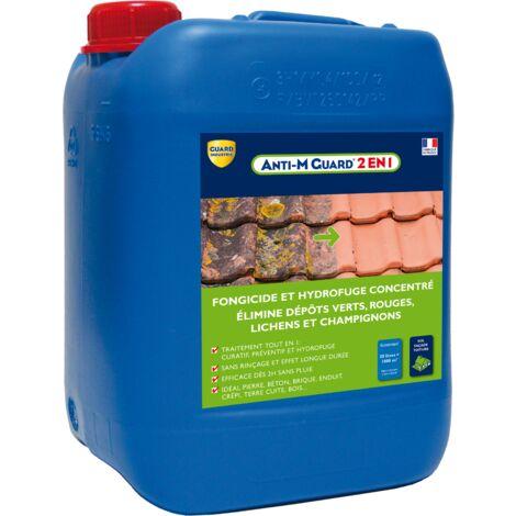 Anti-dépôt vert Guard 2 en 1 nettoyant fongicide hydrofuge terrasses toitures façades